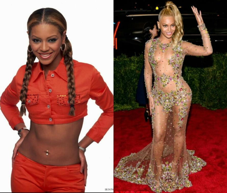 BEYONCE BEFORE & AFTER TONING!